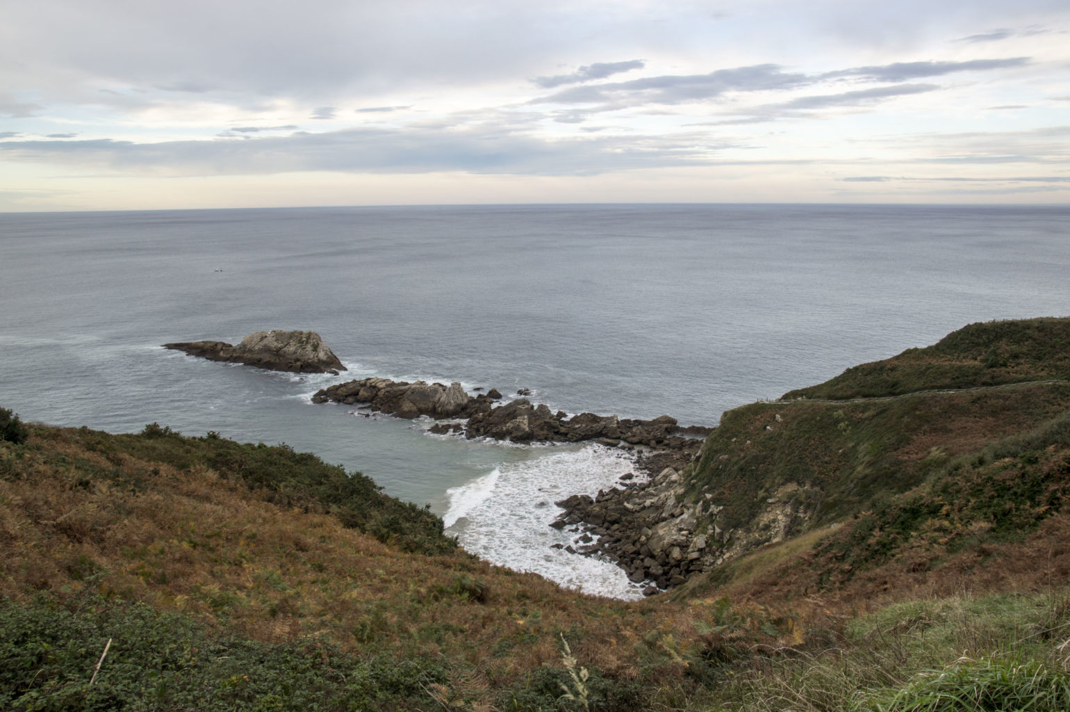 Basque coast near zarautz